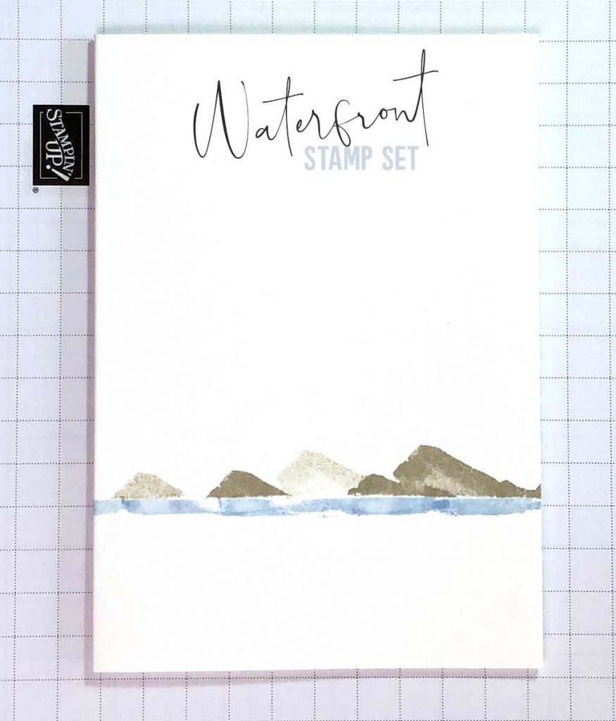 Creating Mountains and Lakes with Waterfront Stamp Set