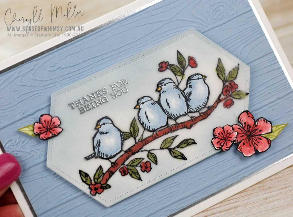 Free as a Bird Pine Planks Embossing Folder