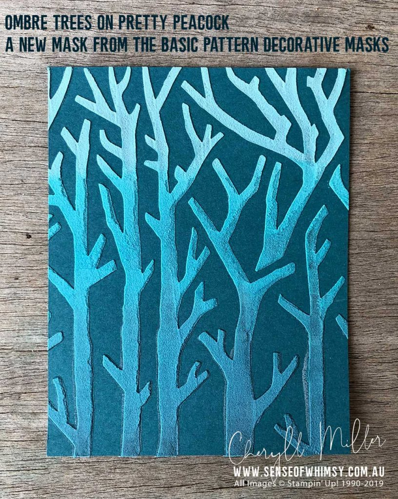Ombre Trees - A mask from the Basic Pattern Decorative Masks