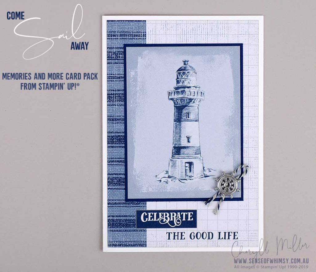 Come Sail Away Memories and More Card Pack for cardmaking