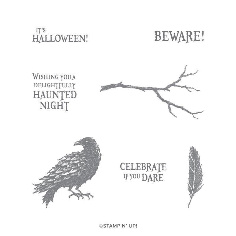 The Raven Cling Stamp Set