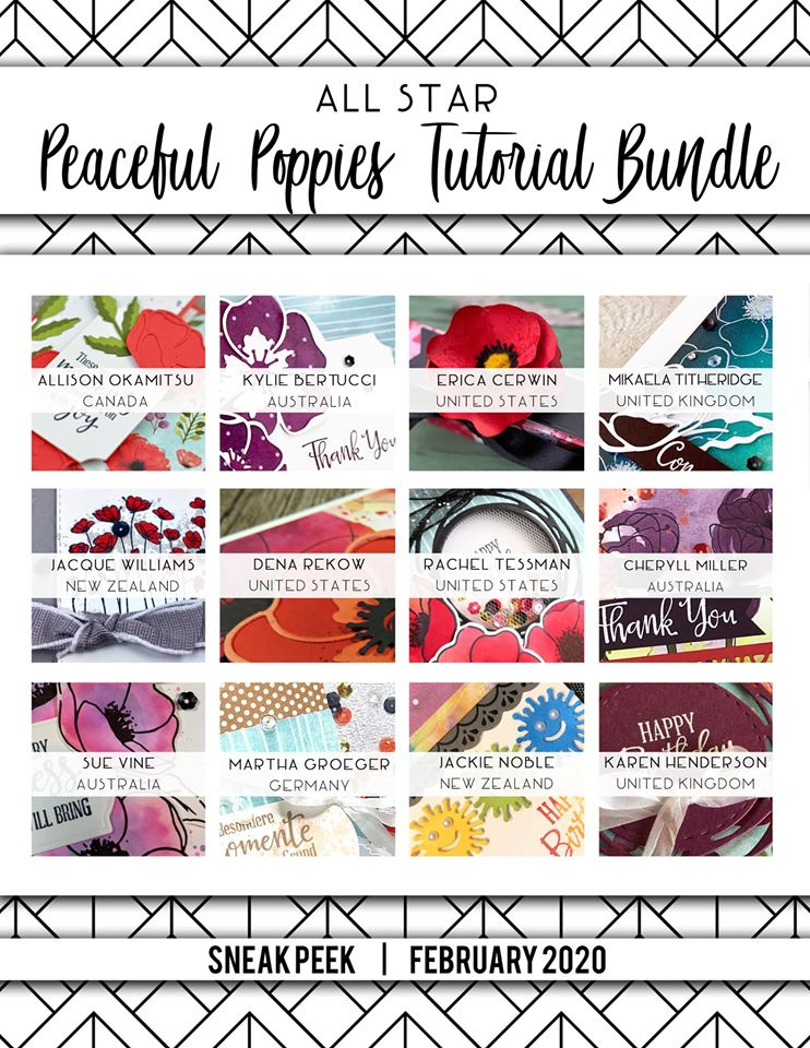 All Star Peaceful Poppies Tutorial Bundle