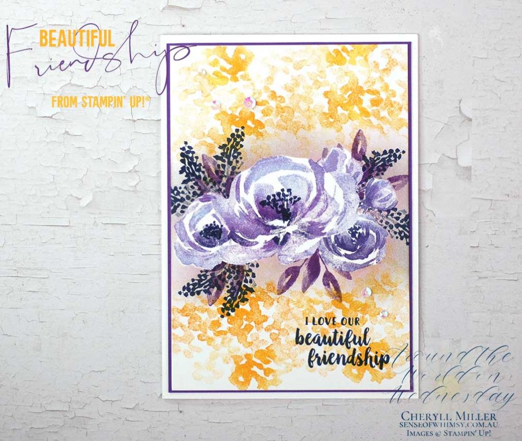 Beautiful Friendship stamp set colouring with Stamparatus