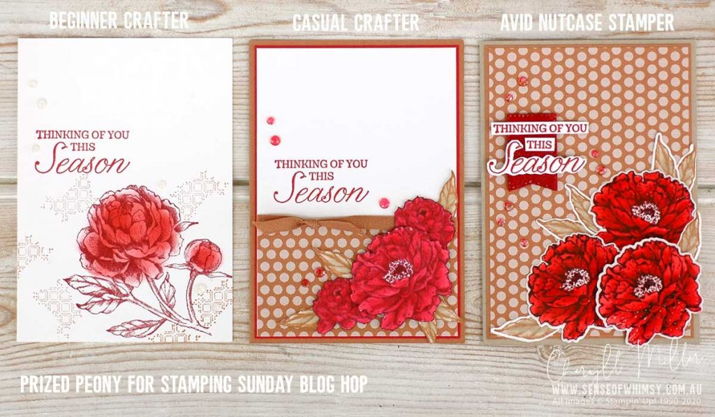Prized Peony Stamp Set Beginner Casual Avid