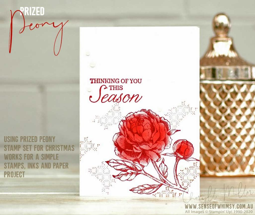 Prized Peony Stamp Set Beginner Project