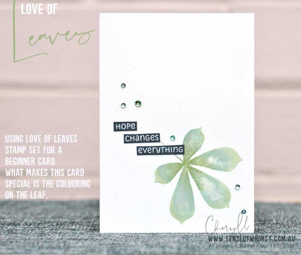 Love of Leaves Beginner Card