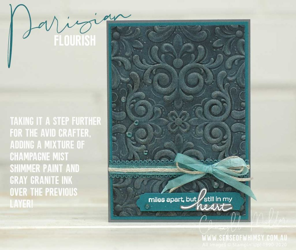 Parisian Flourish Avid Card