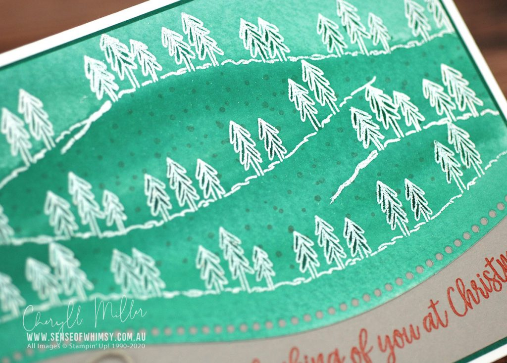 Curvy Christmas Watercolour Background