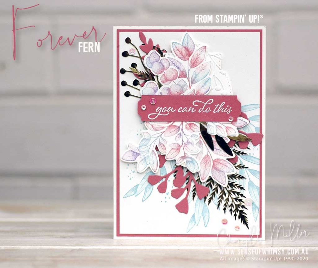 Forever Fern Blue and Pink