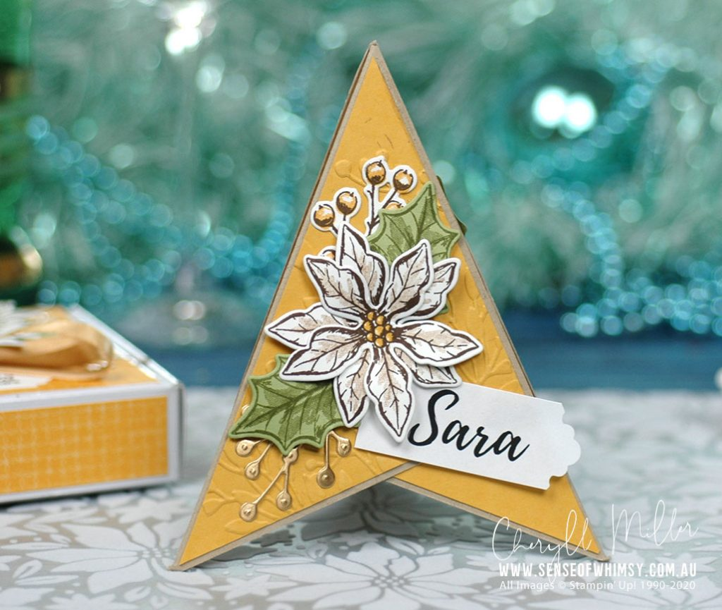 Poinsettia Petals Name Card
