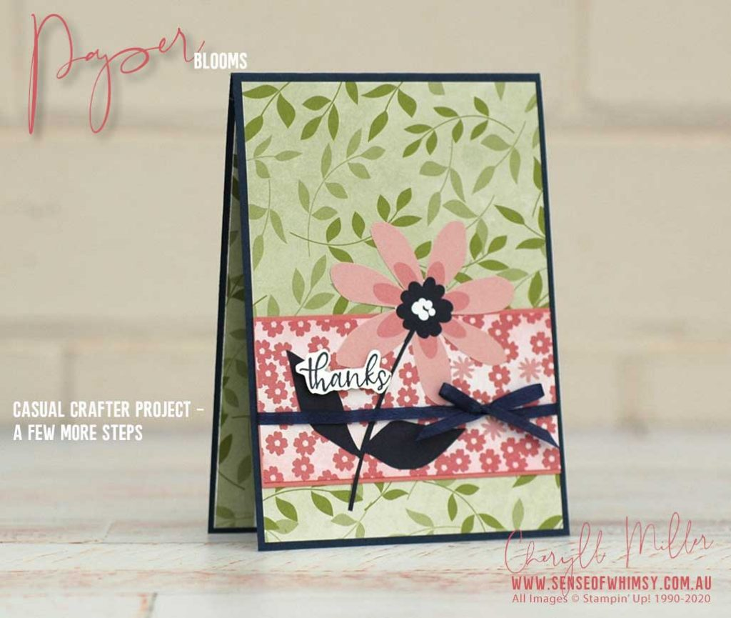 Paper Blooms Casual Card