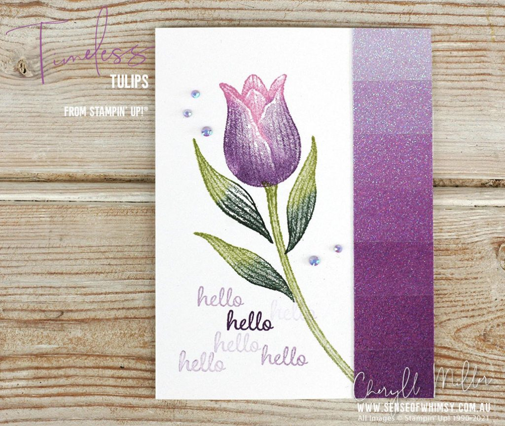 Timeless Tulips plus Ombre Specialty Paper