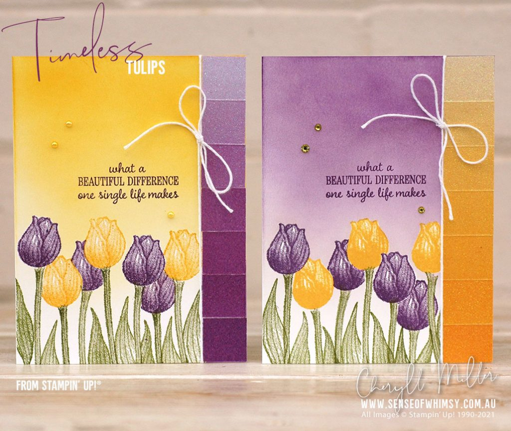 Timeless Tulips in two colourways