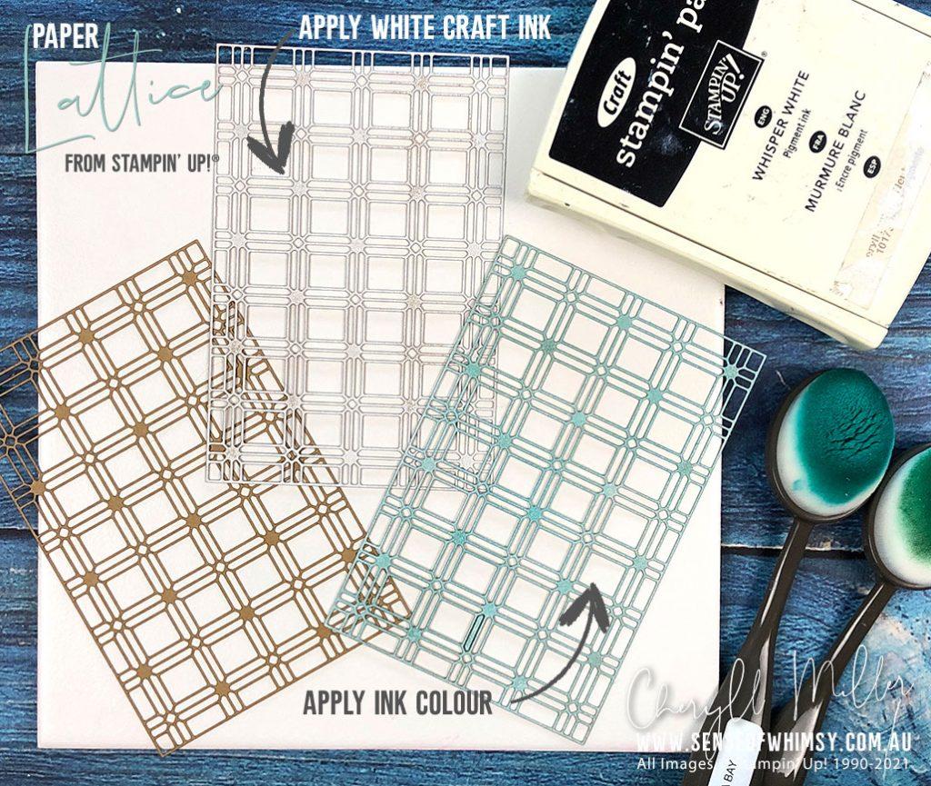 Paper Lattice White Inked