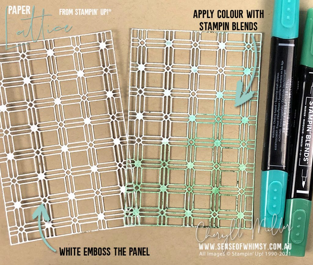 Paper Lattice with Stampin Blends