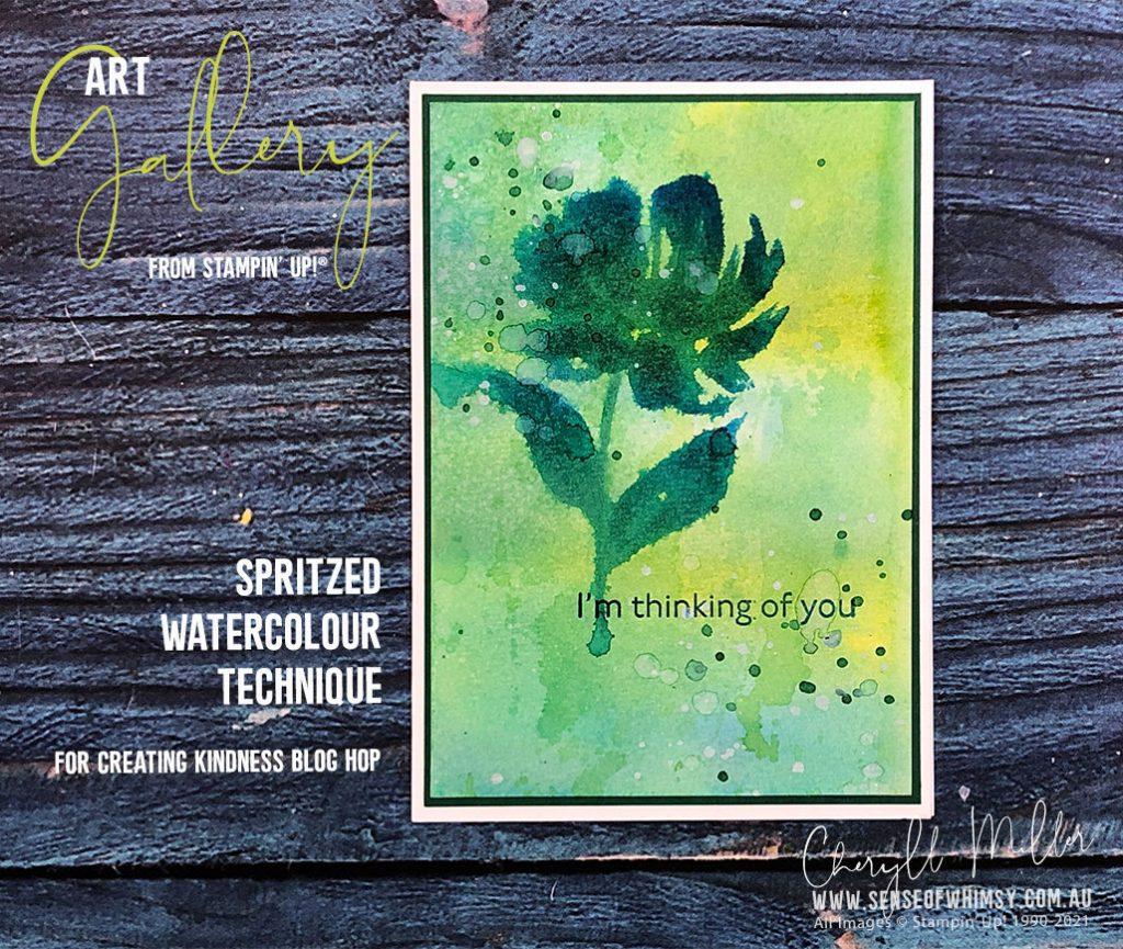 Art Gallery Spritzed Watercolour Technique