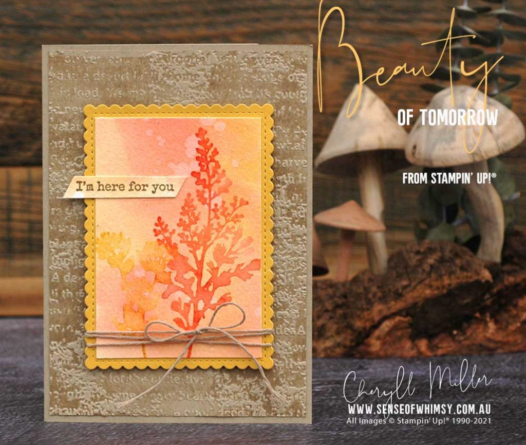Beauty of Tomorrow Bundle and Timeworn Type 3d Embossing Folder