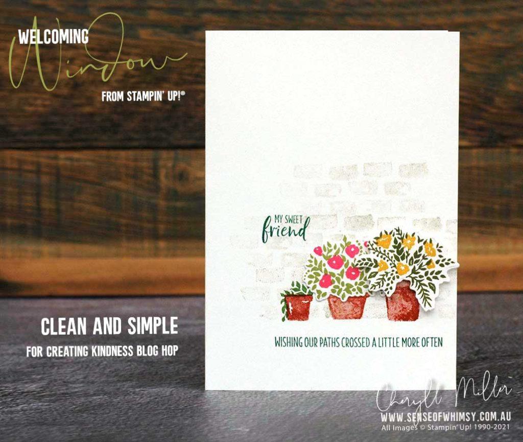 Welcoming Window CAS Card